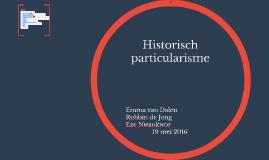 Historisch particularisme