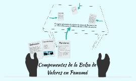 Componentes de la Bolsa de Valores en Panamá