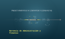 Copy of PROCEDIMIENTO DE CREDITOS Y COBRANZAS