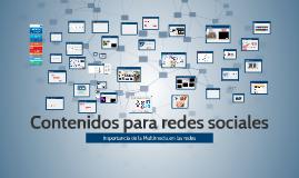 new Contenidos para redes sociales