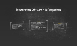 Presentation Software - A Comparison