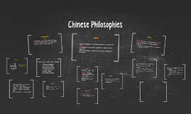 Chinese Philsophies