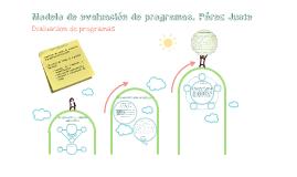 Copy of Modelo de evaluación de Pérez Juste