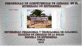DESARROLLO DE COMPETENCIAS DE CUIDADO  EN EL INTERNADO DE EN