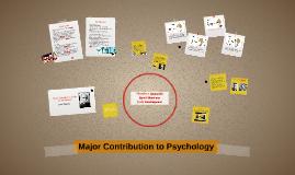 Major Contributors to the Social Sciences
