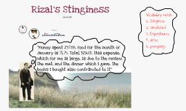 Rizal's Stinginess