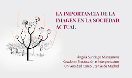 Copy of LA IMPORTANCIA DE LA IMAGEN EN LA SOCIEDAD ACTUAL
