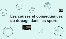 le dopage dans les sport