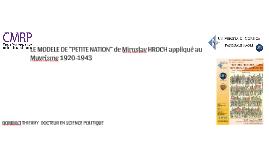 DOMINICI THIERRY LE MODELE DE PETITE NATION DE MIROSLAV HROCH APPLIQUE AU MUVRISME. COMMUNICATION COLLOQUE UNIVERSITÉ DE CORSE 19 ET 20 NOVEMBRE 2015