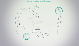 How to create a search strategy