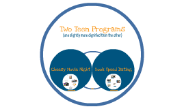 Two Teen Programs