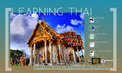 Learning Thai with SEAsite