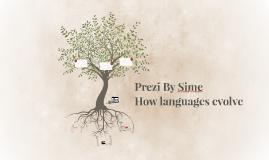 TOEFL:How languages evolve