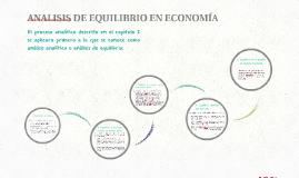 ANALISIS DE EQUILIBRIO EN ECONOMÍA
