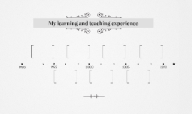 My learning and teaching experience