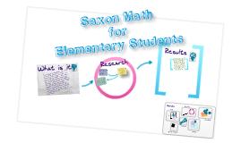 Curriculum Review Saxon Math Elementary