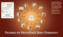2015 Dreams on Horseback Race Honorees