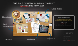THE ROLE OF MEDIA IN SYRIAN CONFLICT