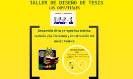 Desarrollo de la perspectiva teórica: revisión y la literatu
