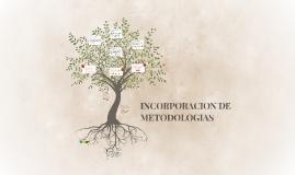 INCORPORACION DE METODOLOGIAS