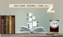 Anne Frank- Saturday, 11 July, 1942