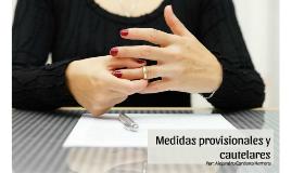 Medidas provisionales y cautelares