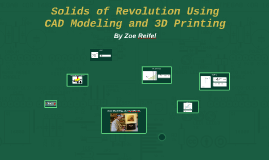 Volumes of Revolution Using