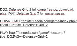 DG2: Defense Grid 2 full game free pc, download, play. DG2: