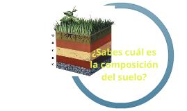 ¿Cuál es la composición del suelo?