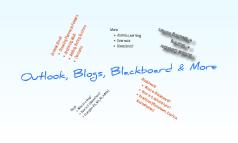 Outlook, Blogs & Blackboard