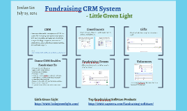 Fundraising CRM System - Little Green Light