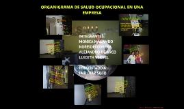 ORGANIGRAMA DE SALUD OCUPACIONAL EN UNA EMPRESA