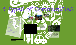 Types of Communities: Rural, Urban, Suburban