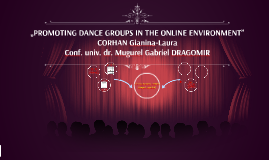 Copy of Promoting dance groups in the online environment