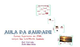 Copy of Aula da saudade