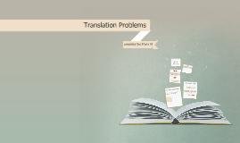 translation Problems