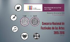 Concurso de Festivales