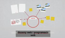 disseny web i programació web