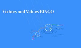 Virtues and Values BINGO