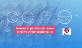 Navegació per internet, cerca efectiva i fonts d'informació