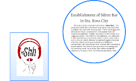 Establishment of Silent Bar in