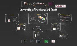 University of Montana 3rd Grade