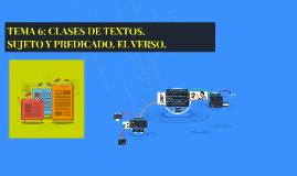 TEMA 6: CLASES DE TEXTOS.