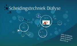 Scheidingstechniek Dialyse