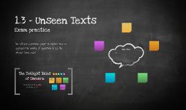 1.3 Unseen Texts