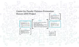 Center for Family Violence Prevention