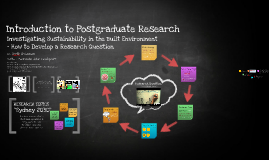 Introduction to Postgraduate Research in SUD