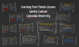 Learning from Finnish Lessons