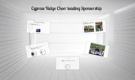 Cypress Ridge Cheer leading Sponsorship