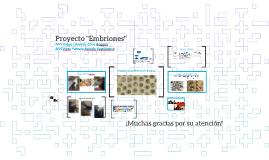"""Proyecto """"Embriones"""""""